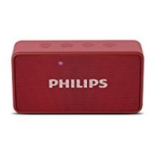 Buy Philips BT64R Portable Bluetooth Speakers (Red) from Amazon
