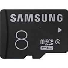 Samsung MB-MA16D MicroSDHC 8GB Class 6 Memory Card (Black) for Rs. 199