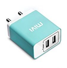 Buy Mivi 3.1A Dual Port Smart Wall Charge Adapter (Blue) from Amazon