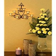 Hosley 8 Cup Wall Sconce with Free Tealights for Rs. 756