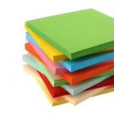 A4 size multicolor craft paper for kid's activities , project works, 100 nos for Rs. 400