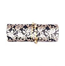 FAVOLA DHOLAK STYLE SILK BROCADE BLACK AND GOLD CLUTCH BAG FSS0224 for Rs. 449