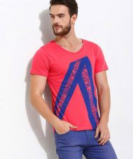 Buy Yepme Angled Stripes Tee - Pink from Yepme