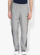 Buy Adidas Ess 3S Wv Pant Grey Solid Track Pant from Jabong