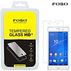 Buy FOSO(™) Sony Xperia Z3 Round Curved 2.5D Edge 9H Hardness Toughened Tempered Glass Screen Guard Protector from Amazon