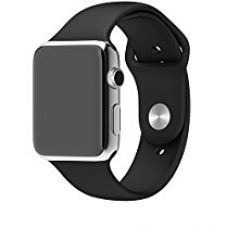 Buy Apple Watch 2/1 Band - GeekTitan Soft Silicone Sport Style Replacement iWatch Strap for Apple Wrist Watch Models - 42 mm - Medium/Large - Black from Amazon