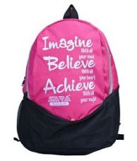 Buy Sara Pink School Backpack for Rs. 435