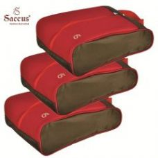 Get 75% off on Saccus Green & Red Shoes Cover - Set of 3