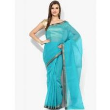 Buy Parchayee Solid Blue Mysore Cottonsilk Uppada Saree 94913A for Rs. 799