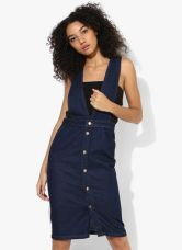 Flat 55% off on Dorothy Perkins Deep V Button Dungaree