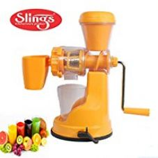 Buy Slings Plastic Smart Fruits & Vegetable Juicer With Steel Handle & Waste Collector ( Multicolor) from Amazon
