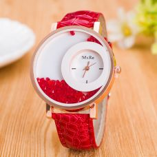 Buy Winter Island Analog Red Coloured Large Round Dial Wrist Watch + Extra Battery for Rs. 359