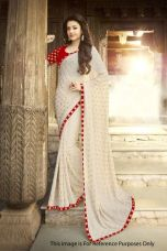 Buy Beige Georgette Printed Casual Saree for Rs. 949