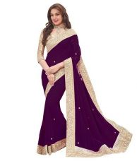 Buy Indian  Fancy  Grorgette Saree from Voonik