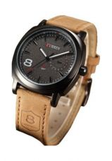 Get 67% off on Winter Island Analog Black Dial & Brown Artificial Leather Wrist Watch + Extra Battery