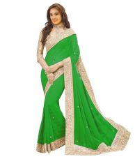 Get 65% off on Indian  Fancy  Grorgette Saree
