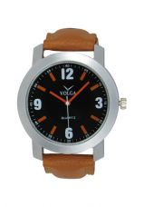 SVM New Latest Designer Brown Festival Offer Deal Sasta Leather Belt Analog Volga Casual Classical Wrist Watch For Men And Boys for Rs. 444