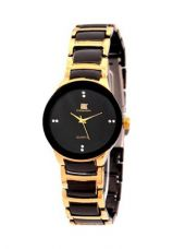 Flat 67% off on Winter Island Analog Black & Gold Small Round Dial Wrist Watch + Extra Battery
