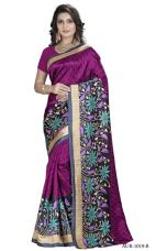 Buy Offer New Arrival High Quality Bhagalpuri Printed Fancy Beautiful Bollywood Saree (Maroon) from Voonik