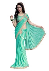 Buy Offer New Arrivals Fancy High Quality Lycra Heavy Embroidred Lehenga Saree(Rama) from Voonik
