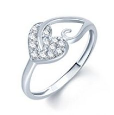 Buy Meenaz Silver Diamond Rings For Girls And Women In American Diamond CZ Ring Jewellery For Women Fr172 from Amazon