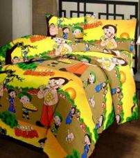 Get 57% off on Comforthome single printed polyster bedsheets with pillow cover
