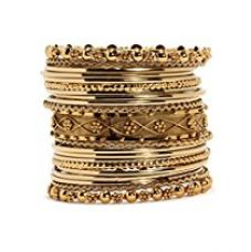 Bindhani Gold-Plated Bangle Set For Women for Rs. 377