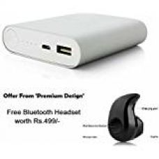 Buy Premium Design Mi 4i Compatible 10400mAh Power Bank with free gift S530 Bluetooth Headset (Random Colour) from Amazon