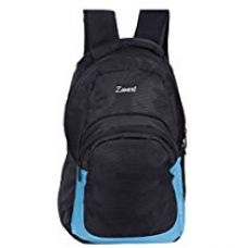 Buy Zwart 25Ltrs Black and Blue Laptop Backpack / Laptop Bag from Amazon