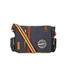 The House Of Tara Vintage Canvas Crossbody Travel Office Business Messenger Bag (Midnight Blue) HTMB 052 for Rs. 1,349