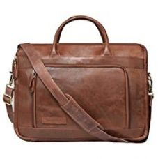 Leaderachi-100% Genuine Vt Leather Laptop Briefcase Bag [Bremen] for Rs. 4,499