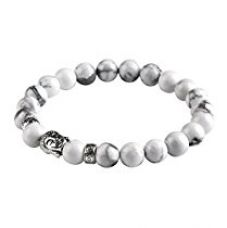 Hot And Bold Blue Silver Plated Buddha Charms Beads Charm Bracelet For Men, Women, Boys & Girls for Rs. 279