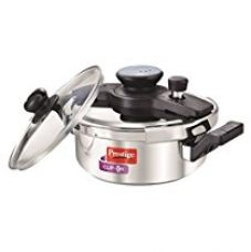 Prestige Clip On Stainless Steel Pressure Cooker with Glass Lid,  for Rs. 2,625