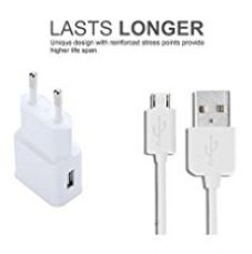 Buy Roboster Lenovo A6000 Plus Compatible RC-71 1 AMP. Certified Heavy Duty Fast Charging tested Charger /Smart Charger/ Wall Charger / Travel Charger / Mobile Charger/ power Adapter with Ultra High Speed Micro USB (V8 Cable) Charging + PC Data Sync / Transfer Cable Compatible with Samsung and all smart phones - White or Black from Amazon