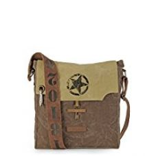 The House Of Tara 100% Cotton Canvas Messenger bag in Distress Finish (Desert Storm and Acorn Brown) for Rs. 899
