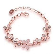 Buy Nakabh Rose Gold Crystal Charm Bracelet for Girls and Women from Amazon