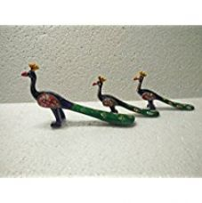 Buy Jaipuri Haat handicrafted set of 3 showpiece Peacock for decoration and Gift purpose (12x11 CM) from Amazon