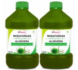 StBotanica Wheatgrass With Aloevera - 500ml, Pack of 2 for Rs. 648