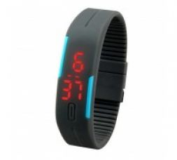 Buy Qubeplex Ultra Thin Silicone Sports Wrist Watch for Rs. 399
