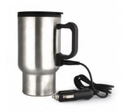 Flat 74% off on Qubeplex Double Wall 12 Volt Stainless Car Travelling Mug
