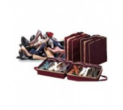 Buy Qubeplex Portable 6 Pair Shoe Tote Organizer for Rs. 310