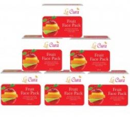 Buy La Cura Fruit Face Pack - 60gm, Pack of 6 from Zotezo