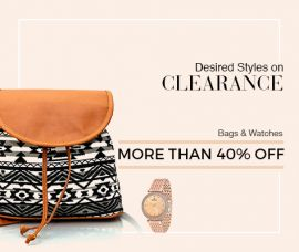 Voonik Sale_  Get  More than 40% Off On Bags & watches