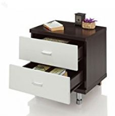 Buy Royal Oak Grape Bedside Table with 2 Drawers (Black and White) from Amazon