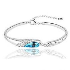 Nakabh Elegant Sea Blue Bracelet Kada Nickel Free Jewellery For Girls and Women for Rs. 269