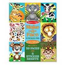 Buy Make-A-Face Sticker Pad: Crazy Animals from Amazon