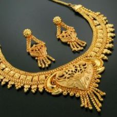Buy 24Crt PURE Gold Forming Heavy Party Wear Set from Rediff