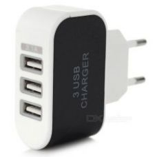 Buy 3 USB Port Plug LED Charger Charging Adapter For All Phone,tablet Etc for Rs. 199