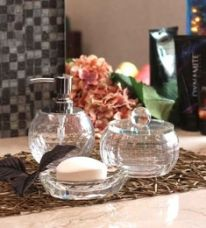 Buy Foyer Glass Bathroom Set - Set of 3 from PepperFry