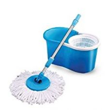 Buy Jaipurcrafts Spin Mop And Bucket For Magic 360 Degree Cleaning (With 2 Refills)- Blue from Amazon